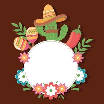 Cartoon cactus with label