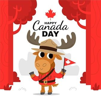 漫画カナダの日のイラスト