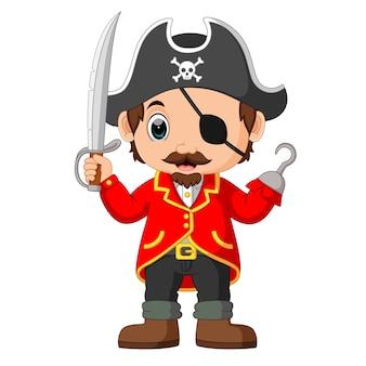 칼을 들고 만화 선장 해적