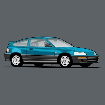 개념 설계를위한 만화 자동차 그림