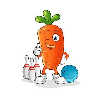 Иллюстрация шаржа моркови