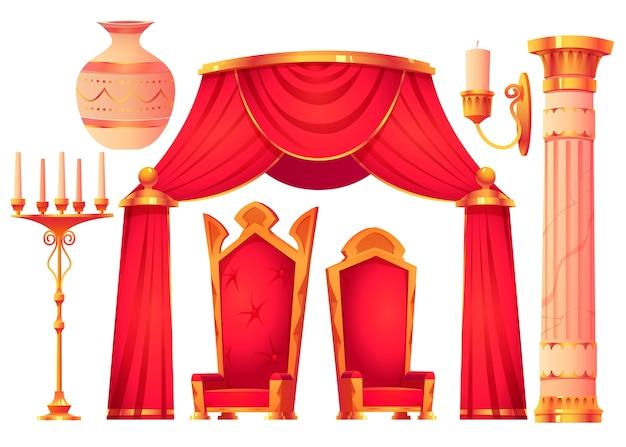 Коллекция мультяшной замковой мебели