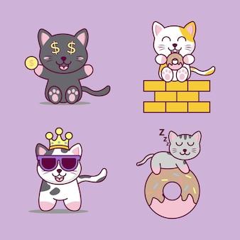 かわいい漫画の猫