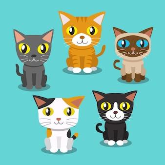 Cartoon cats standing