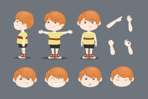 Cartoon character animation frames