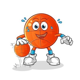 만화 캐릭터 농구 드리블