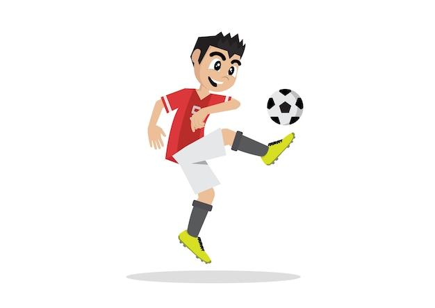 Cartoon character, boy soccer football player