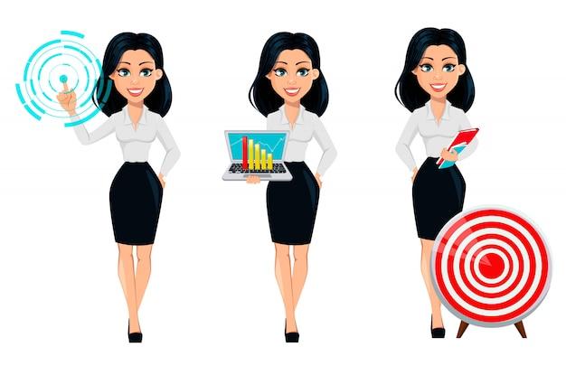 Cartoon character businesswoman
