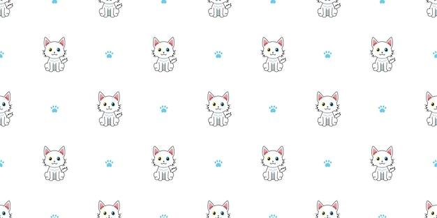Мультипликационный персонаж кошка бесшовный фон фон