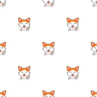 Cartoon character cat seamless pattern