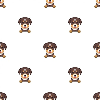 漫画のキャラクターの犬のシームレスなパターン背景