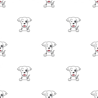 Cartoon character dog seamless pattern background