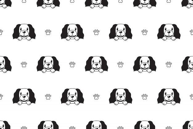 Cartoon character dog seamless pattern background