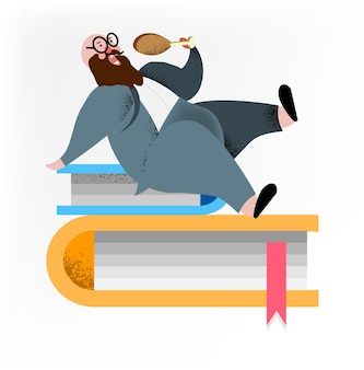 Мультфильм характер толстяк, едят цыплят в рабочее время.