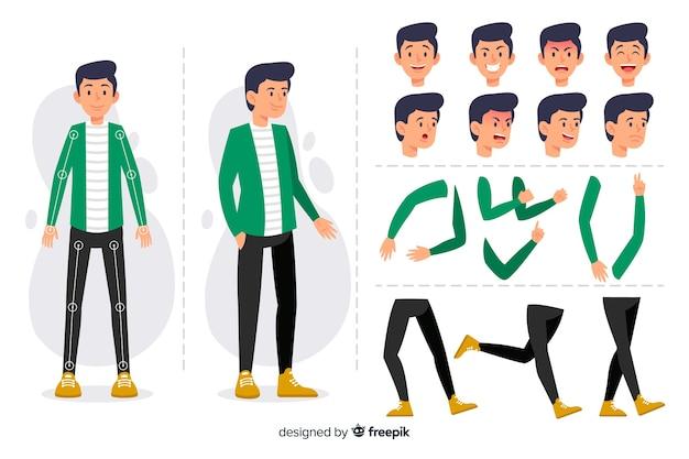 모션 디자인을위한 만화 캐릭터