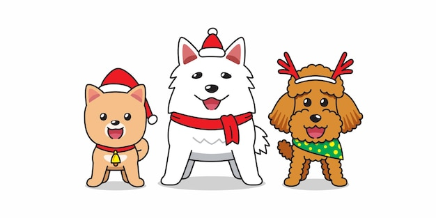 Cartoon character happy dog christmas costume