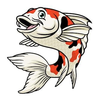 Cartoon character of koi fish