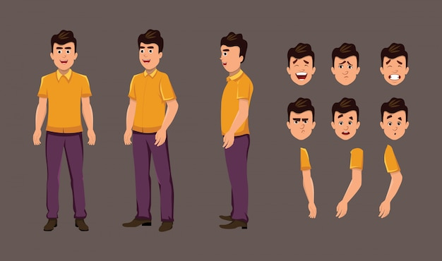 Cartoon character for motion design or animation