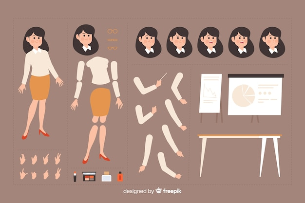 Personaggio dei cartoni animati per la progettazione del movimento