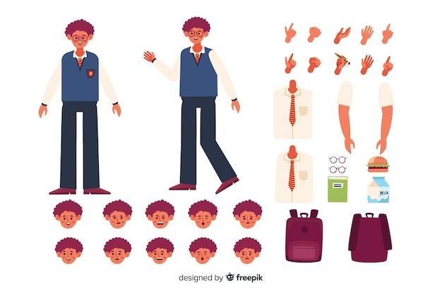 Cartoon character for motion design