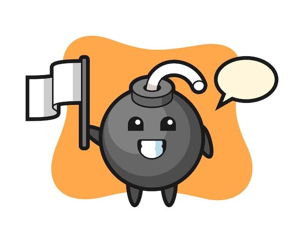 フラグを保持している爆弾の漫画のキャラクター