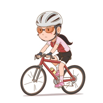サイクリストの女の子の漫画のキャラクター。