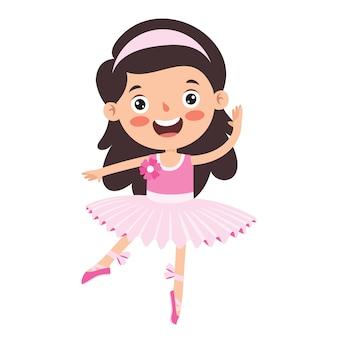 Мультипликационный персонаж, исполняющий классический балет