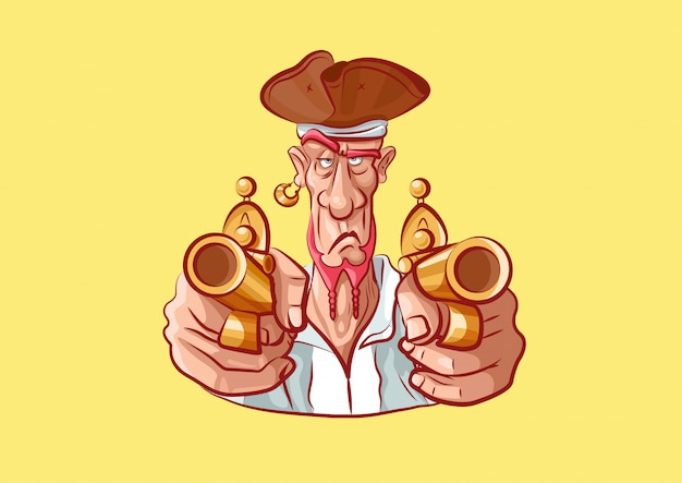 Cartoon character pirate