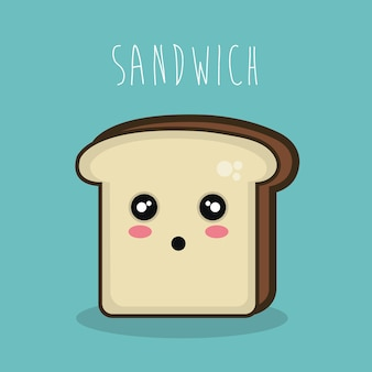 Cartoon character sandwich icon