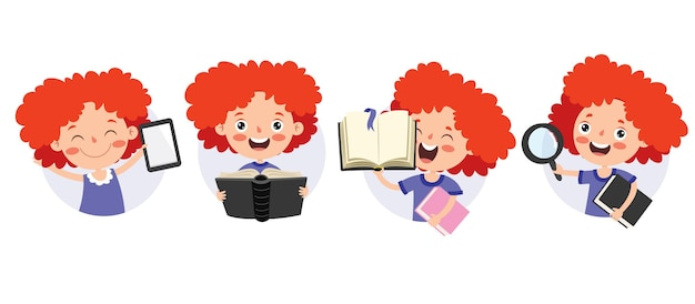 漫画のキャラクターの勉強と学習