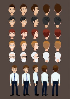 Cartoon character with business man for animation.