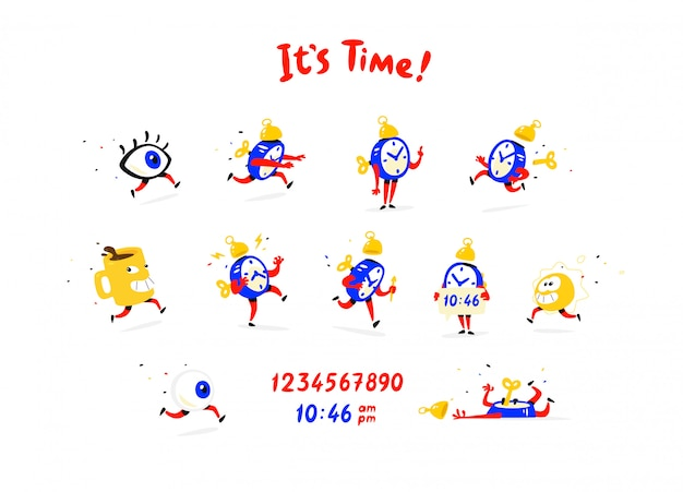 Cartoon characters alarm clock
