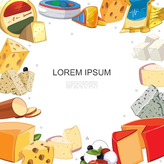 漫画のチーズはテンプレートを並べ替えます