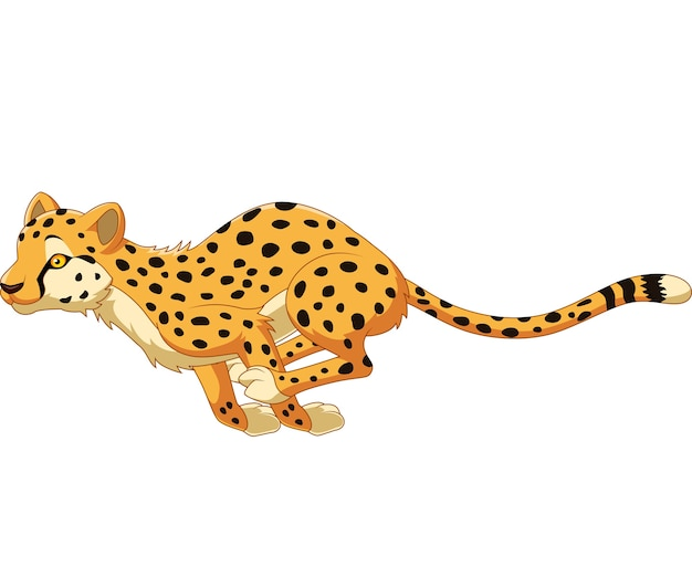 Cartoon cheetah running