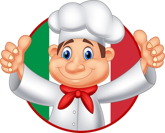Cartoon chef giving thumb up