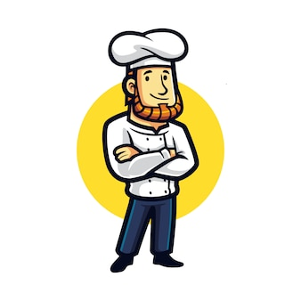 Cartoon chef steady mascot