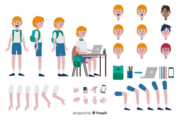 Cartoon child character template