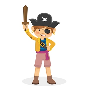 Cartoon of children pirate