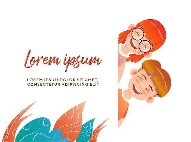 Cartoon childrens day illustration character premium vector