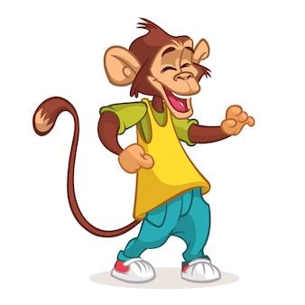Cartoon chimpanzee dancing