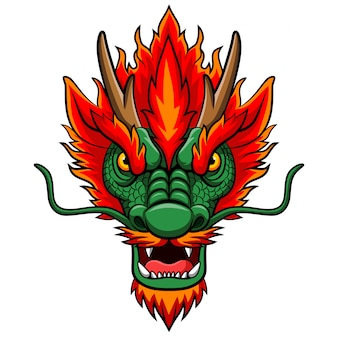 漫画中国のドラゴンヘッドマスコット