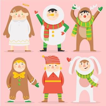 漫画のクリスマスキャラクターコレクション