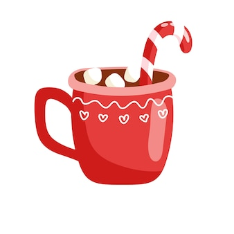 Мультяшный рождественский напиток векторные иллюстрации