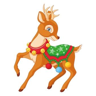 Мультяшный рождественский олень