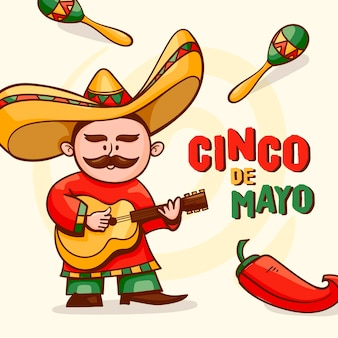 Cartoon cinco de mayo illustration