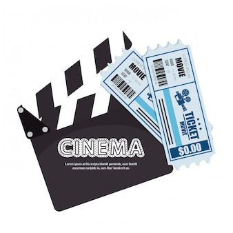 Cartoon cinema film festival movie design