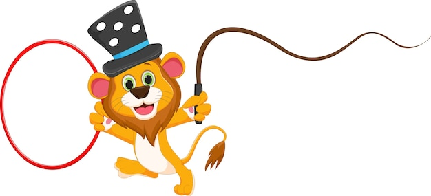 Cartoon circus lion