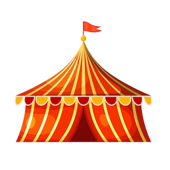 Cartoon circus marquee tent