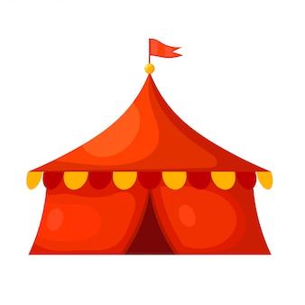 Cartoon circus tent