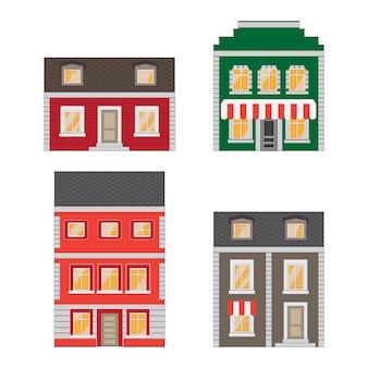 タウンハウスと漫画の街並みコレクション